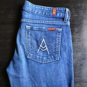 7 For All Mankind A Pocket Jeans Women's Sz 29x28